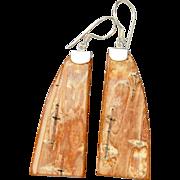 Curved Birch Bark Earrings
