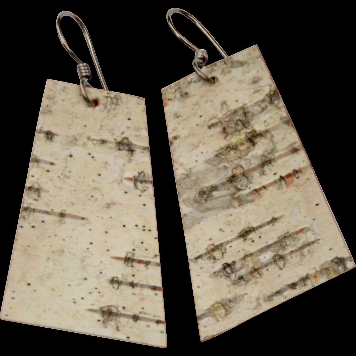 Parchment Birch Bark Earrings
