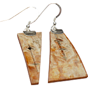 Abstract Birch Bark Earrings