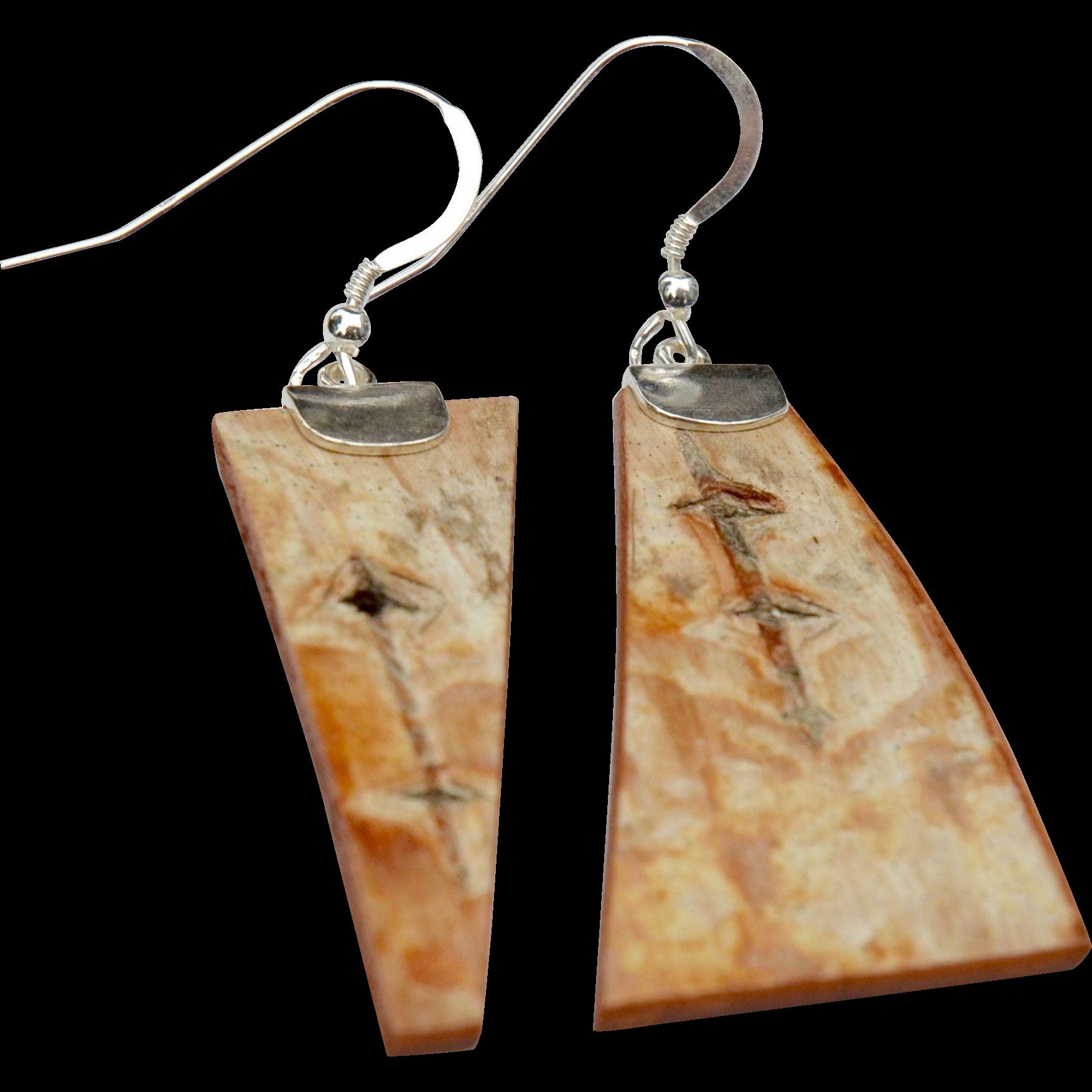 Abstract Birch Bark Earrings