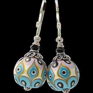 Multicolored Matte Lamp work Earrings