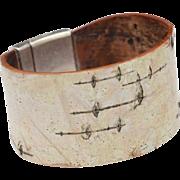 Birch Bark Closed Cuff Bracelet