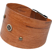 Wide Closed Cuff Birch Bark Bracelet