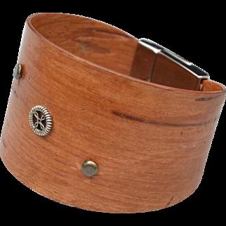 Wide Closed Cuff Birch Bark Bracelet