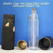 Flask or vintage traveling vanity bottle