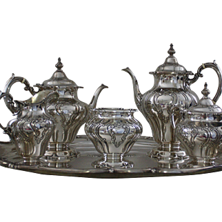Chantilly Grand Duchess 6 pc. sterling tea and coffee service by Gorham