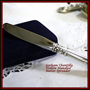 Chantilly butter spreader, modern blade, hollow handled