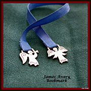 James Avery bookmark with angels in sterling