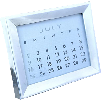 Tiffany perpetual calendar in sterling frame