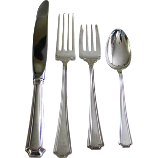 Fairfax 4 piece place setting by Durgin and Gorham