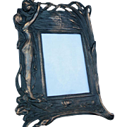 Picture frame, art deco with bronze highlights