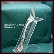 Francis I forks, luncheon size, in solid sterling by Reed & Barton