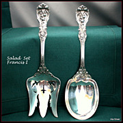 Francis I Salad Set in sterling by Reed & Barton