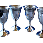 Sterling water goblets - Embossed