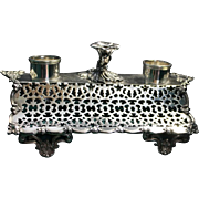 Inkstand in footed filigree design