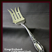 King Richard cold meat serving fork by Towle