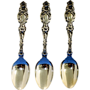 Lily sterling teaspoons by Whiting Mfg. Co, ca 1902