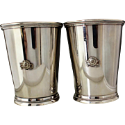 Mint juleps oversized set of two in silver plate