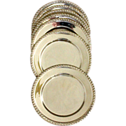 Bread & Butter plates in a sterling set of 4