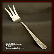 Repousse sterling rare fork by Kirk