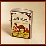 Camel cigarette lighter with vintage descriptors
