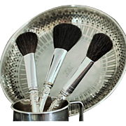 Cosmetic sterling handled brush in Chantilly by Gorham