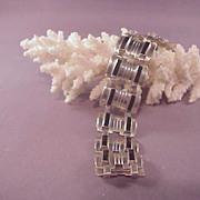 Vintage Mexican Sterling/Onyx Bracelet