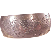 Vintage SKirk Sterling Poinsettia Cuff