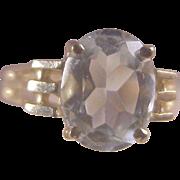 Vintage 14k Oval Aquamarine Ring