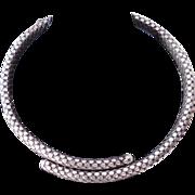 Vintage Sterling Silver Choker / Snakeskin