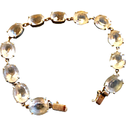 Vintage Sterling Silver and Rock Crystal Bracelet