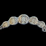Vintage Estate Vermeil Peruvian Coin Bracelet