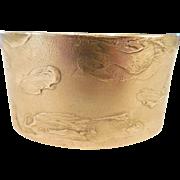 Estate Modernist Bronze Cuff  Bracelet