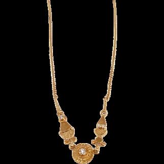 Estate 18k & Diamond Necklace/Ross Coppelman/orig. box