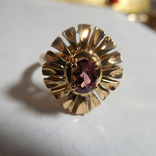 Estate 14k Ruby Ring/Kabana