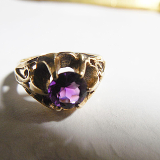 Estate 14k Amethyst Ring
