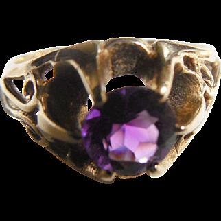 Estate 14k Amethyst Ring