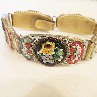 Vintage Millefiori/ Mosaic Bracelet