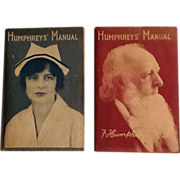 1928 & 1929 Humphrey's Manuals 2 Vintage Advertising Booklets Doctor and Nurse