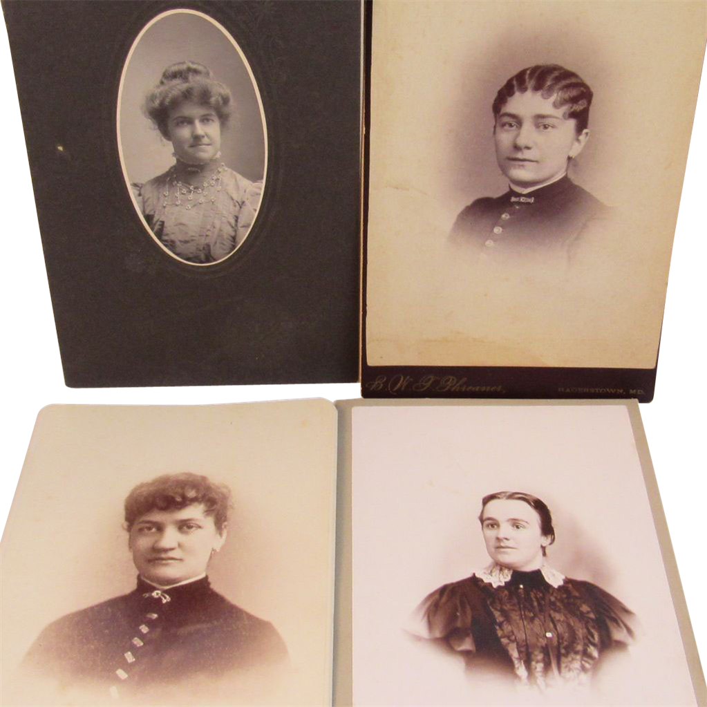 Four Victorian Photographs of Women