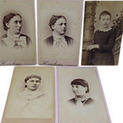 5 Victorian Photographs of Young Women