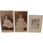 3 Victorian Baby Photographs