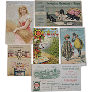 Lot of 6 Old Advertising Trade Cards - Red Tag Sale Item