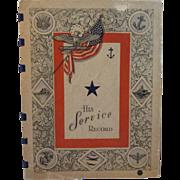 1942 His Service Record WWII Book Unused