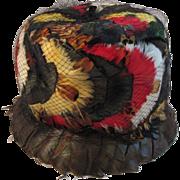 Vintage Dana Marte Original Feathers Hat