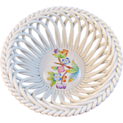 Herend Handpainted Openwork Reticulated Basket Small Bowl