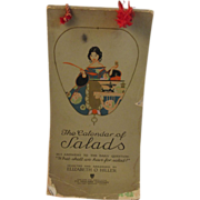 1920s Calendar of Salads Cookbook by Elizabeth O. Hiller