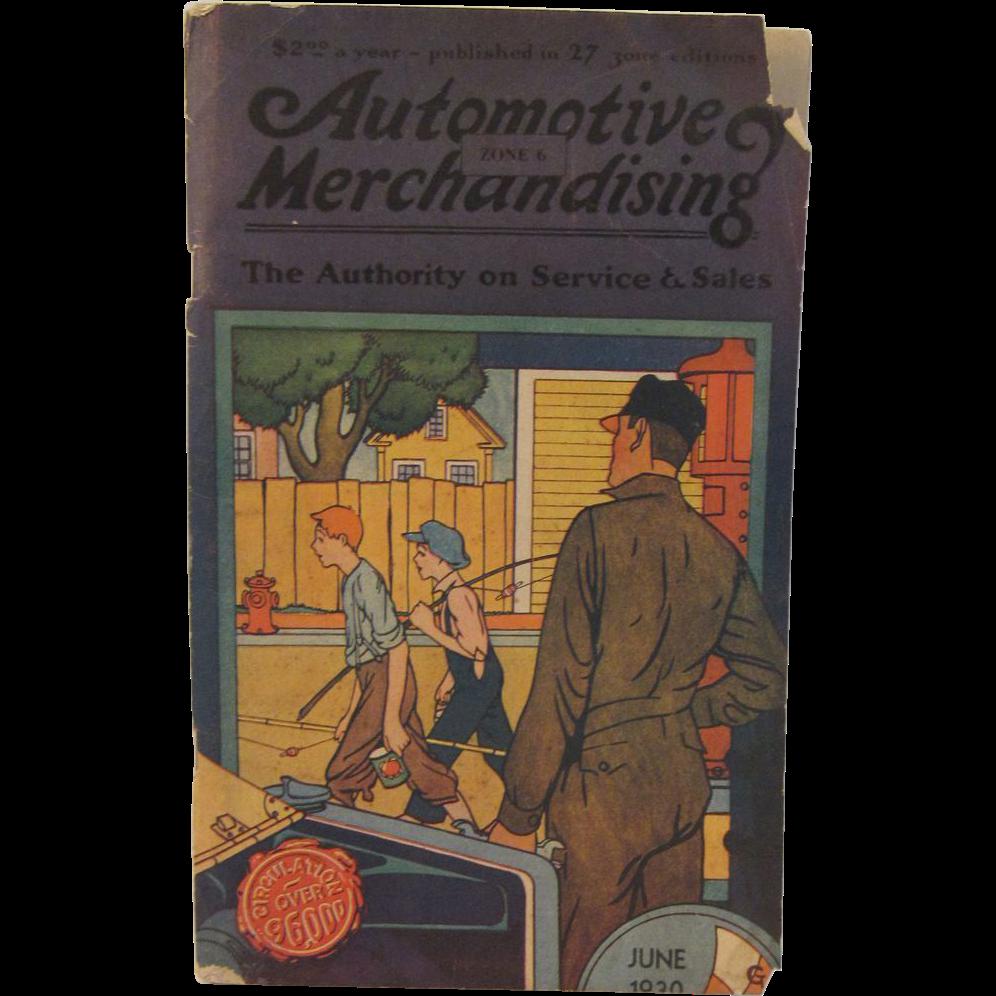Vintage Automotive Merchandising Book for June 1930