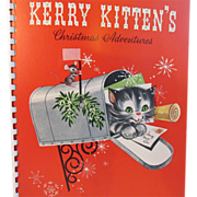 Kerry Kitten's Christmas Adventures Children's Pop Up Book written by Beth Vardon and illustrated by Jason Lee in the 1950s