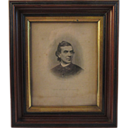 Civil War Era Print Abolitionist in Deep Walnut Frame - Alfred Cookman